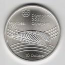 Stříbrná pamětní mince LOH Montreal 1976 - Velodrom, b.k. - rok 1976