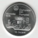 Stříbrná pamětní mince LOH Montreal 1976 - Panorama Montrealu, b.k. - rok 1973