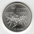 Stříbrná pamětní mince LOH Montreal 1976 - Lacross, b.k. - rok 1974