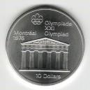 Stříbrná pamětní mince LOH Montreal 1976 - Pantheon, b.k. - rok 1974