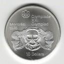 Stříbrná pamětní mince LOH Montreal 1976 - Zeus, b.k. - rok 1974