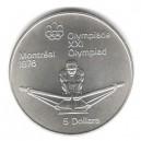 Stříbrná pamětní mince LOH Montreal 1976 - Veslování, b.k. - rok 1974