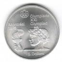 Stříbrná pamětní mince LOH Montreal 1976 - Olympijská pochodeň, b.k. - rok 1974