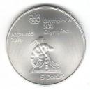 Stříbrná pamětní mince LOH Montreal 1976 - Kanoistika, b.k. - rok 1974