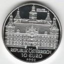 Stříbrná pamětní mince Zámek Eggenberg, Proof, rok 2002