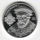 Stříbrná pamětní mince Ferdinand I., Proof, rok 2002