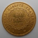 Zlatá mince Francie 20 Frank 1877 A