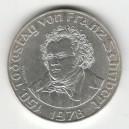Stříbrná pamětní mince Franz Schubert 1978, b.k.