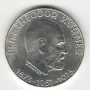 Stříbrná pamětní mince Theodor Körner 1973, b.k.
