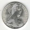 Stříbrná pamětní mince Marie Terezie 1967, b.k.