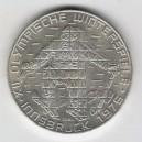 Stříbrná pamětní mince XII. zimní olympijské hry Innsbruck 1974, b.k.
