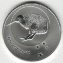 Stříbrná investiční mince Kiwi 2010 - 1 Oz