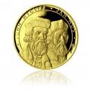 Zlatá investiční mince 50 NZD Jan Hus a John Wycliff - Proof