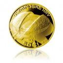 2014 - Stříbrná pozlacená medaile ZOH Soči 2014