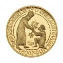2008 - Zlatá medaile Zakládání vinic Karlem IV., ČÍSLOVANÁ - Au 1/2 Oz