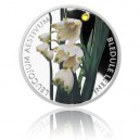 2014 - Stříbrná mince 1 NZD Bledule letní kolorováno