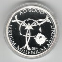 2000 - Stříbrná medaile k uvítání roku 2000