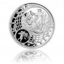 2014 - Postříbřená medaile Staroměstský orloj - Štír