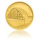 Most v Karviné-Darkově - zlatá mince z cyklu Mosty České republiky, b.k.