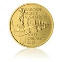 2012 - Most v Náměšti na Oslavou - zlatá mince z cyklu Mosty České republiky, b.k.