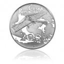 2011 - Stříbrná mince První dálkový let Jana Kašpara, b.k.