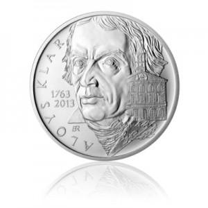 2013 - Stříbrná mince Alois Klar, b.k.