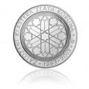 2013 - Stříbrná mince Založení kláštera Zlatá koruna, b.k.