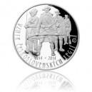 Stříbrná mince Založení československých legií, Proof