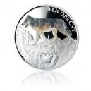 2014 - Stříbrná mince 1 NZD Vlk obecný kolorováno