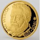 2015 - Zlatá medaile Jan Werich - číslováno - Au 1/2 Oz