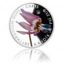 2015 - Stříbrná mince 1 NZD Kandík psí zub - kolorováno