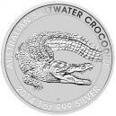 Stříbrná investiční mince Krokodýl mořský 2014 - 1 Oz