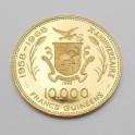 Zlatá mince Guinea 10000 Francs 1969