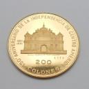 Zlatá mince Salvador 200 Colones 1971