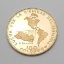 Zlatá mince Salvador 100 Colones 1971