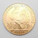 Zlatá mince Francie 20 Frank 1909