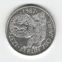 Stříbrná pamětní mince Berlín, b.k., rok 1987