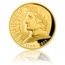 2015 - Zlatá mince 25 NZD Dante Alighieri - Proof - 1/2 Oz