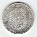 Stříbrná pamětní mince Gottfried Wilhelm Leibniz, b.k., rok 1966