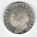 Stříbrná pamětní mince Theodor Fontane, b.k., rok 1969