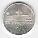 Stříbrná pamětní mince Sjednocení Německa, b.k., rok 1971