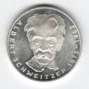 Stříbrná pamětní mince Albert Schweitzer, b.k., rok 1975