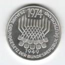 Stříbrná pamětní mince Základní zákony, b.k., rok 1974