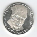 Stříbrná pamětní mince Carl Friedrich Gauss, b.k., rok 1977