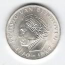 Stříbrná pamětní mince Ludwig van Beethoven, b.k., rok 1970