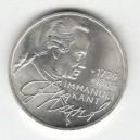 Stříbrná pamětní mince Immanuel Kant, b.k., rok 1974
