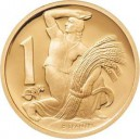 2005 - Zlatá medaile 1 koruna z roku 1922, Au 1/4 Oz