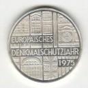 Stříbrná pamětní mince Evropský rok ochrany památek, b.k., rok 1975