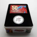 Stříbrná pamětní mince Spider-Man, Proof - kolorováno, rok 2013