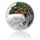 2015 - Stříbrná mince 1 NZD Mlok skvrnitý - kolorováno